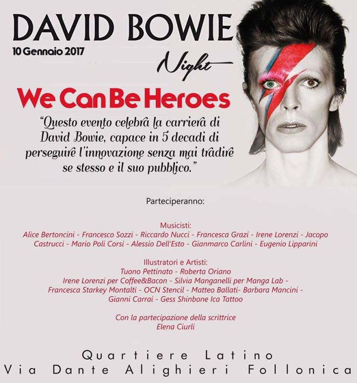 bowie night follonica